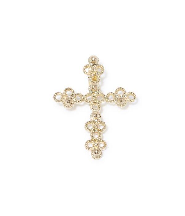 medium cross charm gold