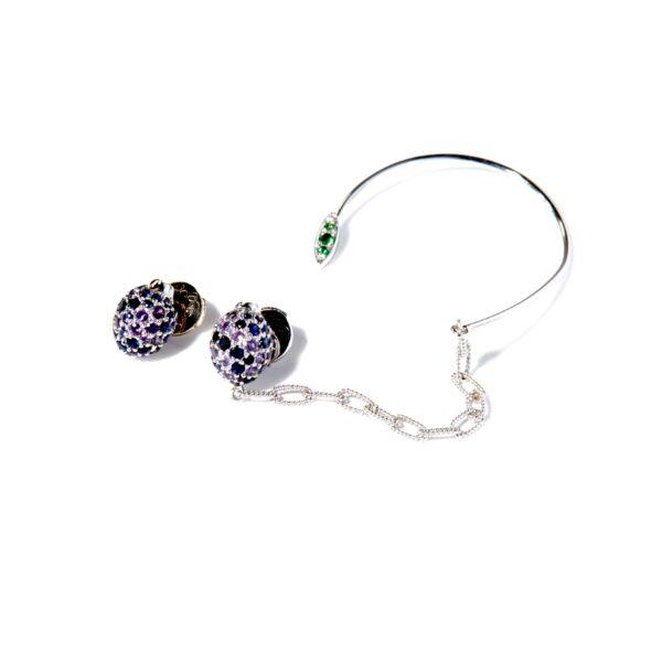 Mirto earcuff with Chain