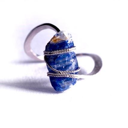 Ring: Rough Blue Sapphir