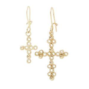 Cross Earrings: Fili di Vento