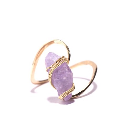 Rough purple sapphire Ring
