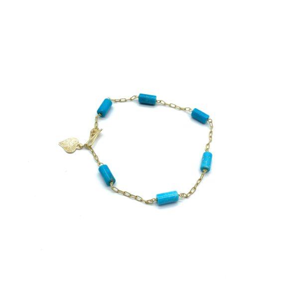 bracelet 6 tourquoises
