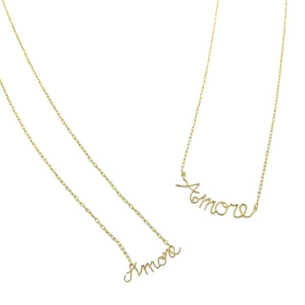 chains with written amore