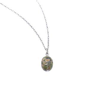 Eileen Nest Scarab White Gold Charm
